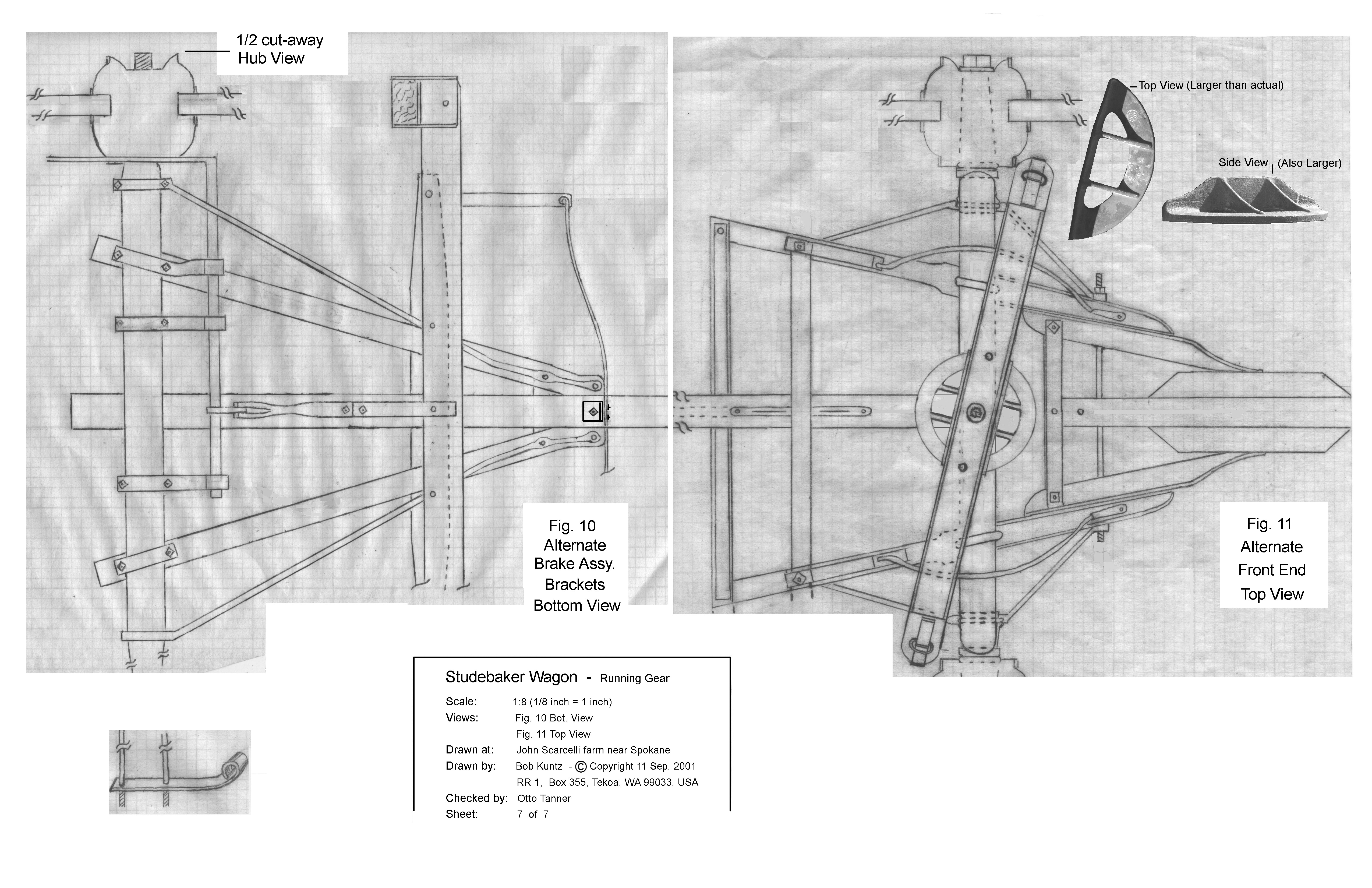 Wagon plans sheet 7 for Covered wagon plans
